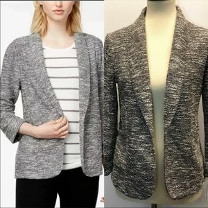 Maison Jules Women Black Knit Tweed Jacket Size S